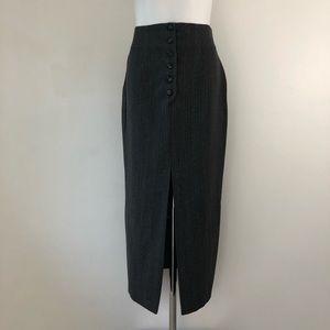 vintage pinstripe pencil skirt